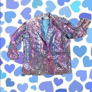 The sparkly disco vintage 70s blazer